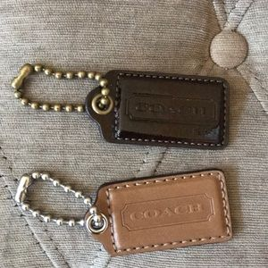 Two Coach Purse Tags Keychains